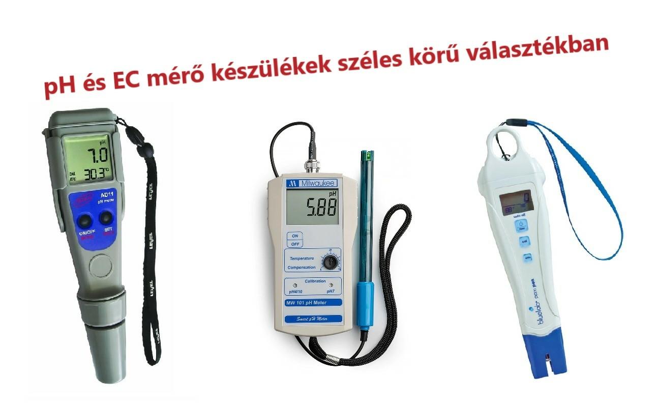 pH és EC mérők