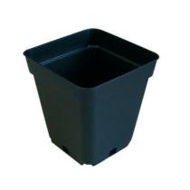 Négyzetes Cserép Fekete 7x7x8 cm 0,2 liter