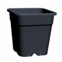 Négyzetes Cserép Fekete24x24x28,3 cm 11 liter
