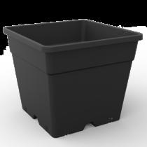 Négyzetes Cserép Fekete 28x28x28,5 cm 14 liter