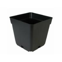 Négyzetes Cserép Fekete 9x9x10 cm 0,5 liter