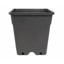 Négyzetes Cserép Fekete 19,4x19,4x22,2 cm 6,5 liter