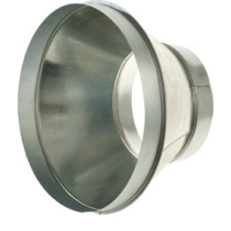 Légtechnikai Szűkítőelem Horgonyzott Lemezből 125 mm Ø > 200 mm Ø