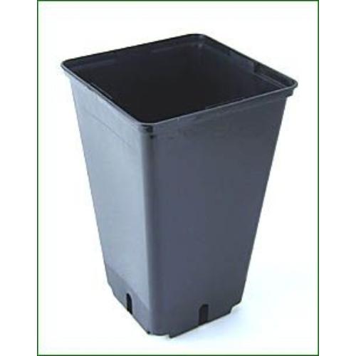 Négyzetes Cserép Fekete 11x11x21,5 cm 2 liter