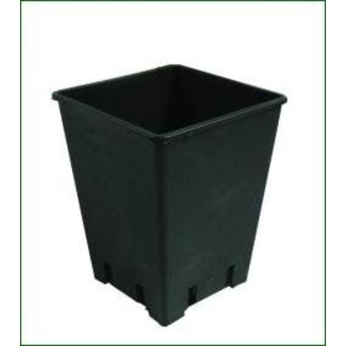 Négyzetes Cserép Fekete 15x15x20 cm 3,5 liter
