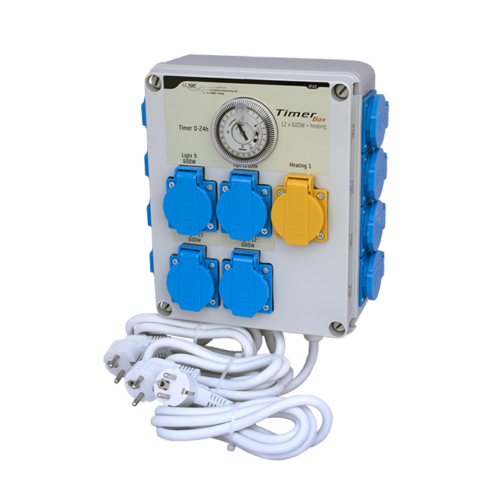 GSE Időkapcsoló 12x 600 Watt + Fűtés