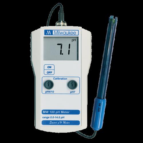Milwaukee MW100 hordozható pH mérő
