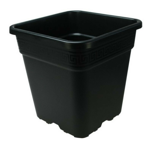 Négyzetes Cserép Fekete 33x33x35 cm 25 liter