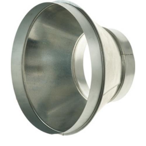 Légtechnikai Szűkítőelem Horgonyzott Lemezből 125 mm Ø > 250 mm Ø